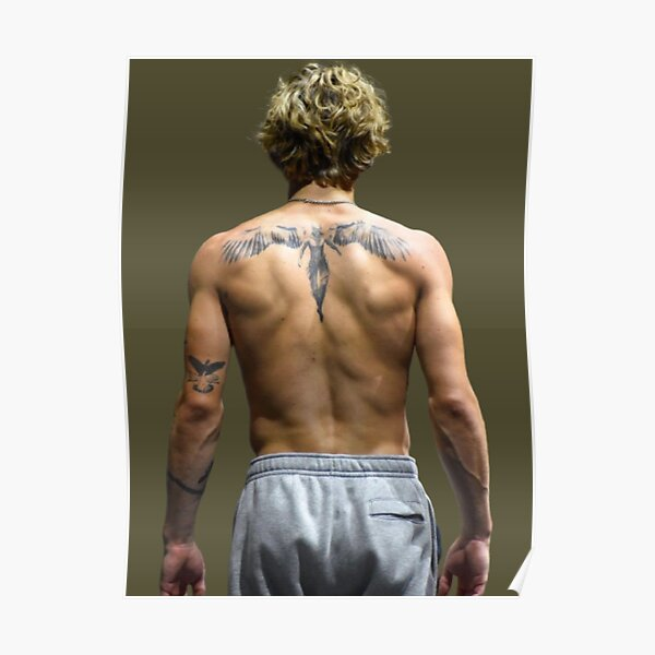 VINNIE BOXING ANGEL BACK TATTOO Poster RB1208 product Offical Vinnie Hacker Merch